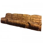 3RR + R + R RECLINER LOUNGE SET IN BROWN